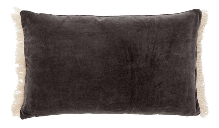 Kuddfodral FRINGE 40x65 cm Mörkgrå