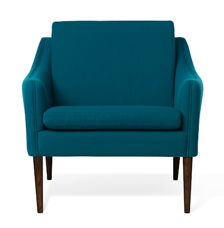 Mr. Olsen Lounge Chair Dark Turqouise Valnöt