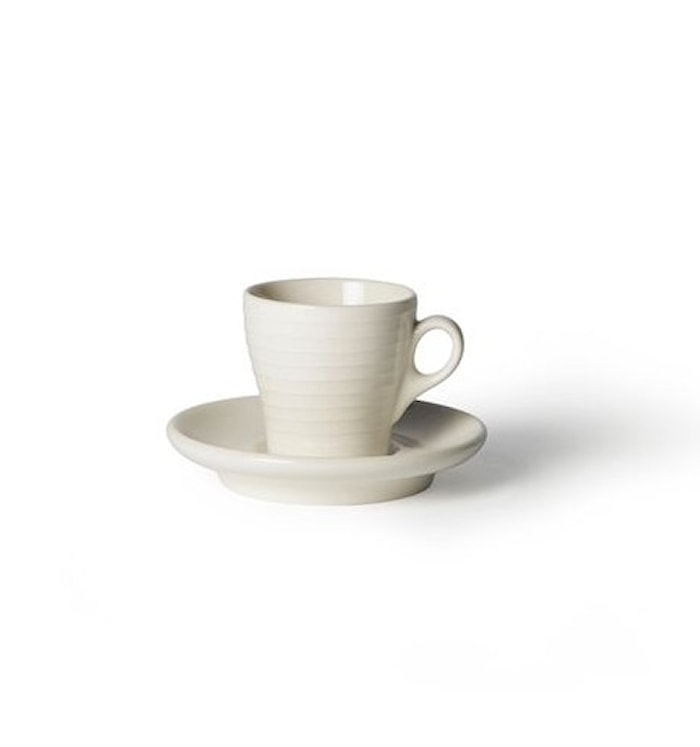 Blond Kopp med fat Espresso Hvit/Stripe