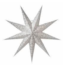 Ludwig Julstjärna Vit/Silver 100 cm