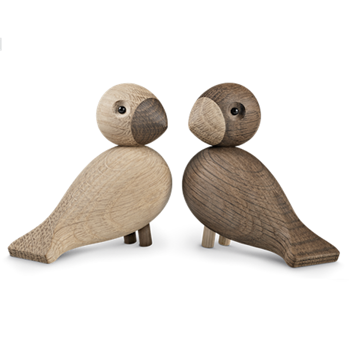 Love birds oak / smoked oak 1 pair