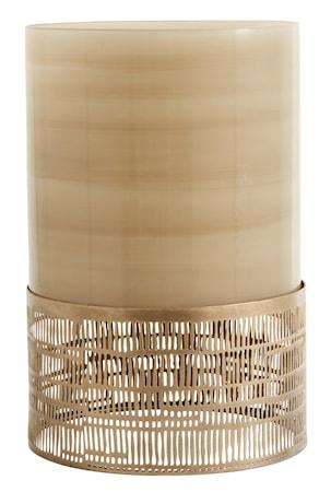Ljusstake Glas & Metall Brun 30cm