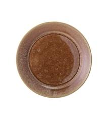 Assiette Pixie marron Ø 20 cm