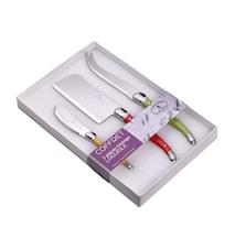 Juustosetti Laguiole 3 kpl Eri värit Valkoinen Box