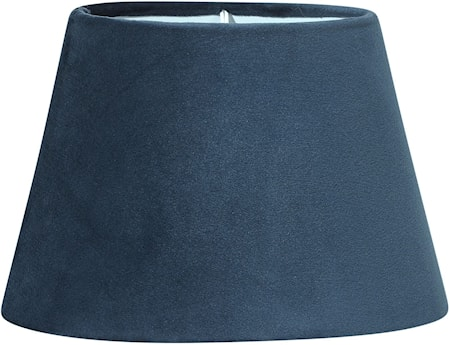 Lampskärm Oval Sammet Blå