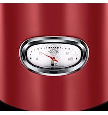 Retro El-kedel, 1,7 liter, Rød