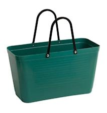 Väska Stor Green Plastic Mörkgrön