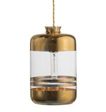 Pillar transparent tagpendel – Transparent, gold