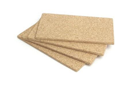 Plankesteksunderlag kork 4 stk