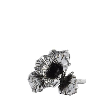 Ornamento Serafina Iris argento