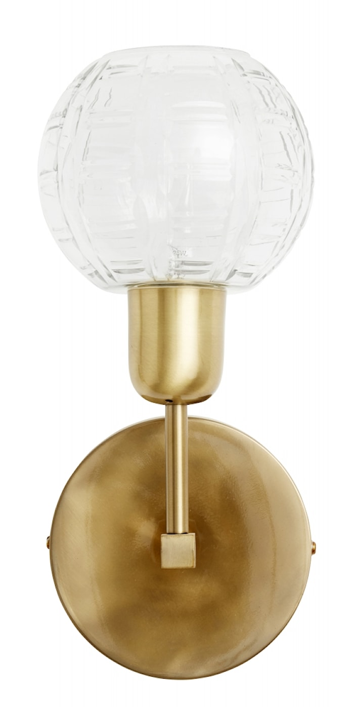 Vegglampe Round glass