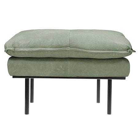 Retro Sofa Læder Hocker Mint Grøn