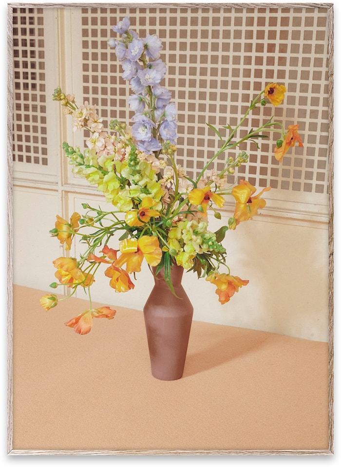 Blomst 06 / Beige Poster 50x70 cm
