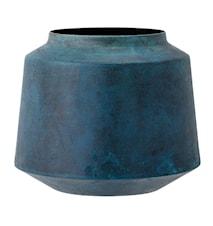 Vas Blå Metall 13,5x18cm