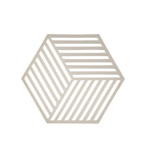 Bordbrikke Warm Grey Hexag