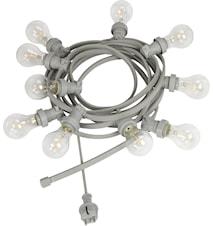 Bright light string m. pære klar 7m