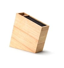 Lutande Knivblock Bambu