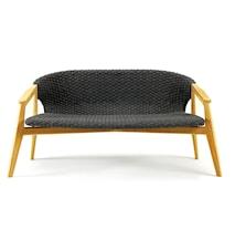 Knit 2-sits soffa - Teak