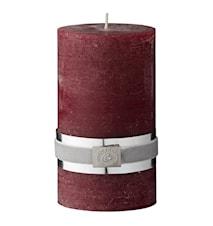 Blokklys Rustikk 12,5 cm Rød