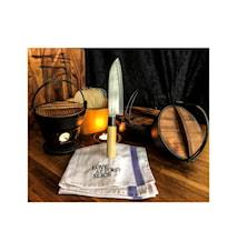 Knivsett skallkniv & santoku i balsaboks