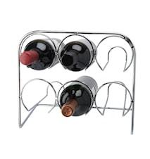 Wijnrek 6 Flessen Chroom 29x25,5x19cm