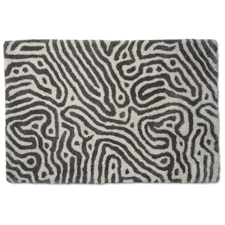 Maze Dörrmatta Titanium/Vit 60x90 cm