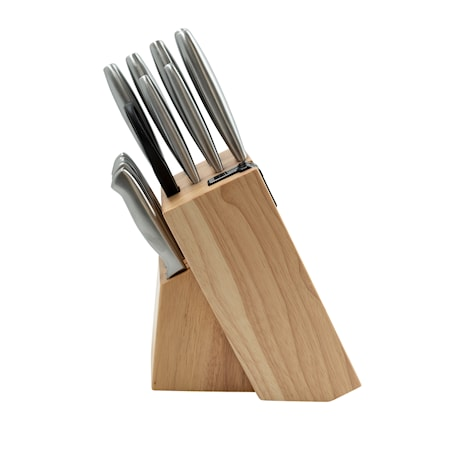 Knivset med Knivblock + Slip 14 delar