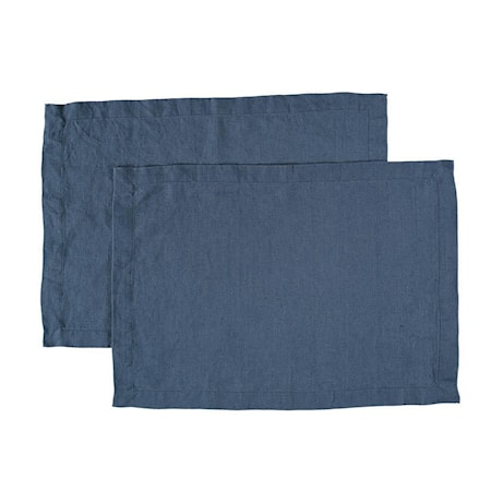 Bordstablett Tvättat Lin 2-pack Blå 35x45cm