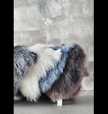 Lamb fur teppe – White