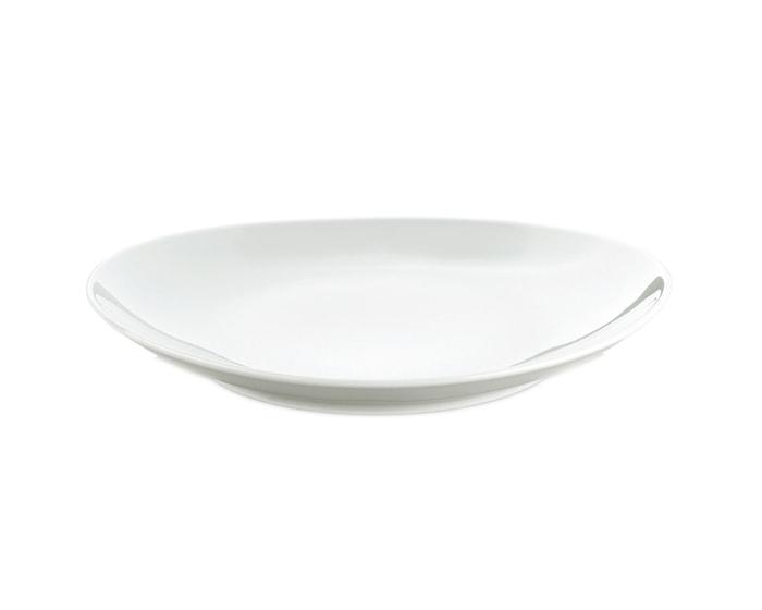 Steaktallerken oval liten hvit, 23 cm