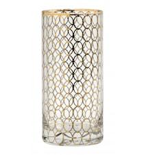 Drikkeglass Tall Gold Pattern