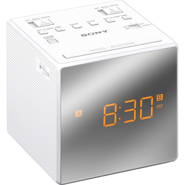 Övriga Klockradio m. två alarm Vit