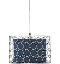 Ring Taklampe 40 cm Krom/Blå