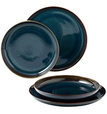 Crafted Denim Dinner set Tallrikar 4 Delar