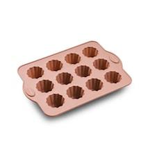 Porsjonsform 12 stk. rosa sil