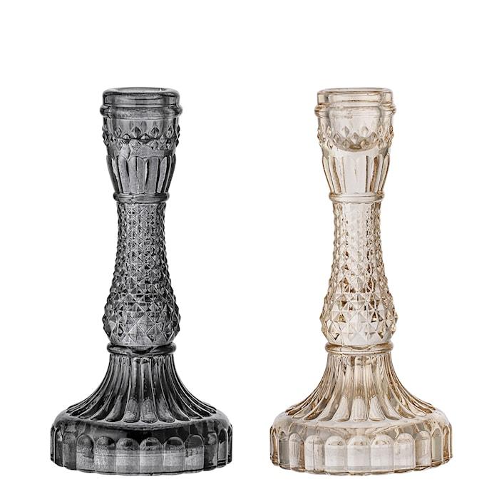Lysestake Royalglass - Svart