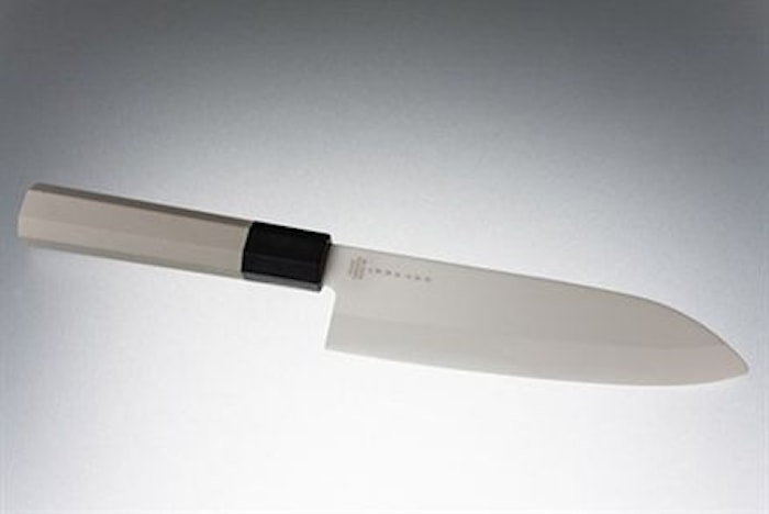 Keramisk kockkniv 15,5 cm vit