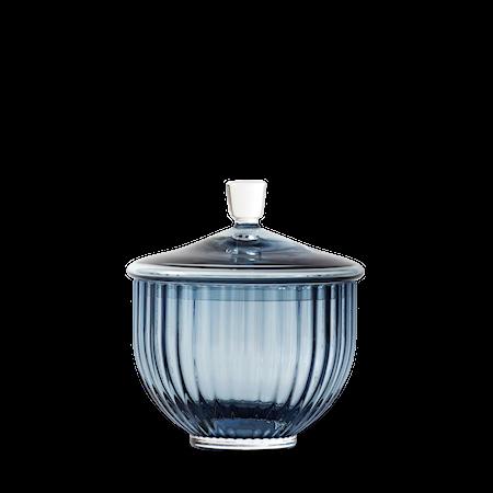 Bonbonjär Glas Midninght Blue Ø10 cm
