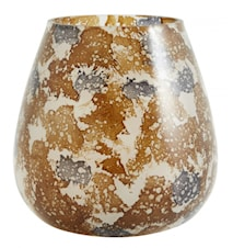 Värmeljushållare Glas Brun/grå 13cm