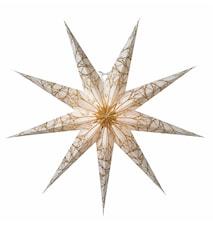 Iris Julstjärna Vit/Guld 80 cm