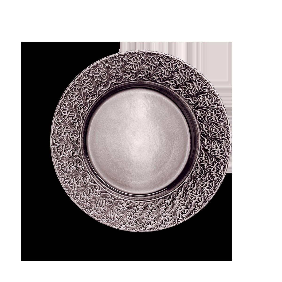 Spets Tallrik Plommon 32 cm