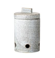 Hazel Garlic Jar, Grey, Stoneware