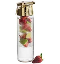 Fresh flaska med fruktkolv guld