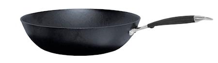 Wokpanne Støpejern med Skaft, 32 cm