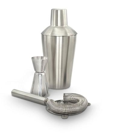 3-del set drinksil, shaker & måttkopp