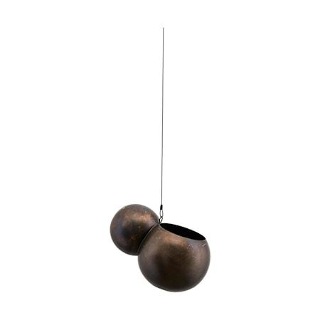 Krukke, Molec, Antik metallic ,l: 18 cm, dia: 14.5 cm