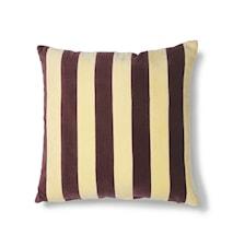Striped Cushion Velvet yellow/Purple 50x50 cm