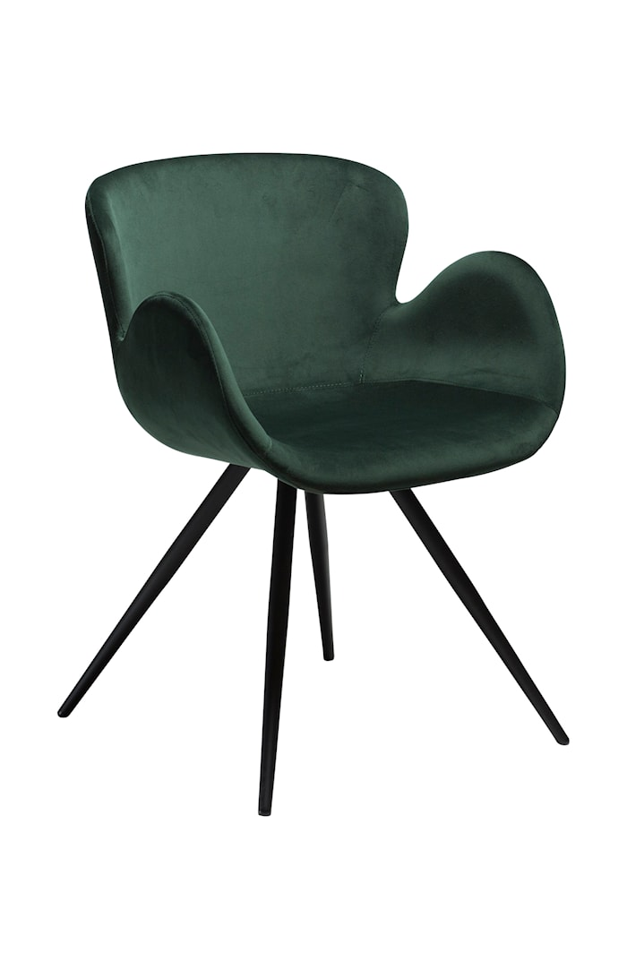 Stol Gaia Velour - Emerald Grön