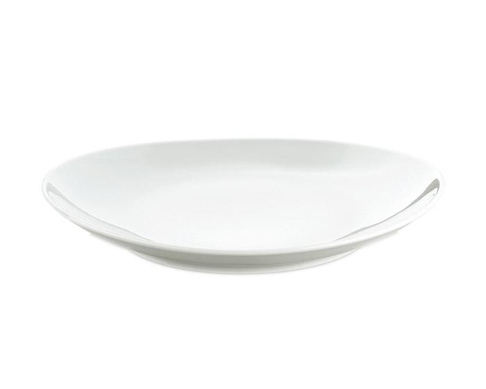 Steaktallerken oval stor hvid, 29,5 cm