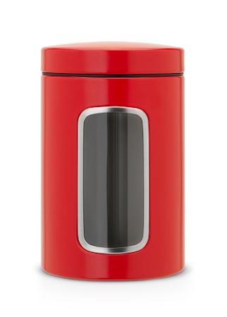 Opbevaringsbeholder med vindue 1.4 Ltr Passion Red